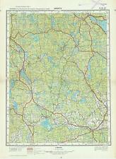 Russian Soviet Military Topographic Map – ARBOGA (Sweden) 1:200 000, ed. 1966