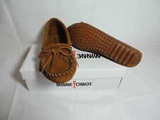 Minnetonka Kilty Brown Leather with Fringe Moccasin 6M NEW WITH BOX  REDUCED!