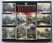 Ceaco Thomas Kinkade Painter of Light 10 Jigsaw Puzzles with Poster