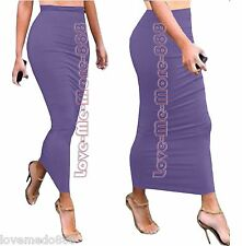 WOMENS Tight Fitted Slim Club Party Tube Tunic Maxi Long SkirtS Sun Dress SMALL