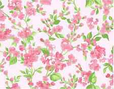 Vintage Flower Print Pink Buds Cake Topper Edible Wafer Paper FULL A4 SHEET