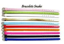 LOT 10 Bracelet Snake 8mm style peau de serpent imitation cuir synthétique NEUF