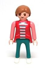 Playmobil Figure Dollhouse Mom Woman w/ Pink Jacket Light Brown Ponytail 3968