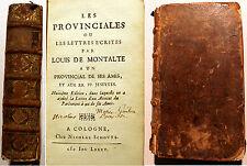 PASCAL/LES PROVINCIALES/SOUS PSEUDONYME DE LOUIS DE MONTALTE/1685/A COLOGNE/RARE
