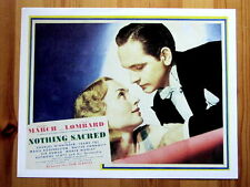 NOTHING SACRED Lobby Card FREDRIC MARCH CAROLE LOMBARD WALTER CONNOLLY