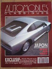 REVUE AUTOMOBILES CLASSIQUES N°24 LE JAPON FERRARI F40 JAGUAR MARK V ALFA 8C2300