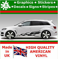 "10"" High Car Side Stripes Graphic Decal Vinyl Stickers Van Auto Rally Race F1_67"