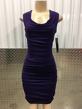 new nwt intermission cocktail evening party formal purple m dress 8 US/36-38EU