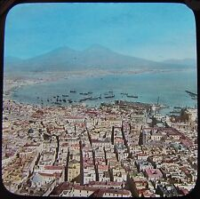 Glass Magic Lantern Slide THE BAY OF NAPLES C1890 PHOTO ITALY NAPOLI