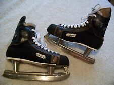VINTAGE BAUER SUPREME 96 ICE HOCKEY SKATES W/BUILT IN ANKLE GUARDS MEN SZ 9-1/2
