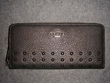 Coach ACCORDION RIVETS Slim Zip Around Wallet
