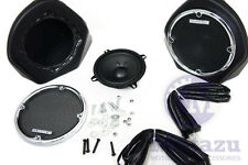 Mutazu King Tour Pak Rear Speaker Pod Kit for Harley HD Touring 98-2013 FLHX FLT