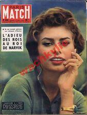 Paris Match n°444 du 12/10/1957 Sophia Loren Jésuites Haakon Norvège Mansfield