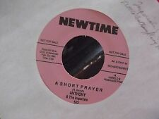 45* LITTLE ANTHONY AND THE IMPERIALS RED VINYL A SHORT PRAYER / BIG FAT MAMA