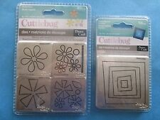 CUTTLEBUG Dies ASTERISKS & FUNKY SQUARE FRAMES Modern Flowers BIG SHOT etc