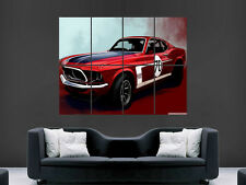 FORD Mustang Classic Car USA POSTER WALL ART PICTURE GRANDE GIGANTE MUSCLECAR
