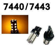 7440 7443 T20 Amber 18-SMD 5050 LED Car Auto Front Turn Signal Light Bulbs Lamp