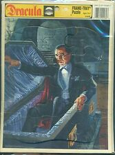 "DRACULA Frame-Tray Puzzle (1991) Golden Press 12-pieces 8"" x 10-1/2"""