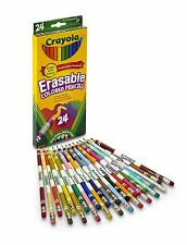 Assorted Colored Set Pencils Pencil Erasable Colors Color 24 Count Crayola