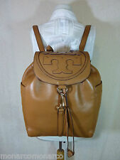 NWT Tory Burch Bark Brown Leather ALL T Large Backpack $495