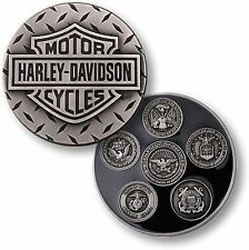 Harley Davidson Challenge Coin -Rare 5 Military Branches- Collectible Medallion