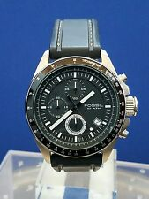Men's Fossil Decker 10 ATM Chronograph Watch Black Band & Dial CH-2573 R324