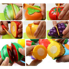 Kitchen Food Play Toy Cutting Vegetable Fruit Knife Toys For Kids Baby Gift 1Set