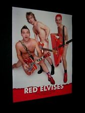Original 2001 RED ELVISES WELCOME TO THE FREAK SHOW Signed Poster IGOR Z OLEG