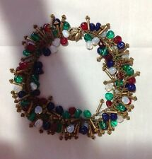 BREATHTAKING VINTAGE FRENCH GRIPOIX PATE DE VERRE NECKLACE!