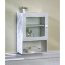 "Bathroom Small Storage Wall White Cabinet Shelf 17"" High"