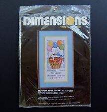 Believe in Your Dreams Cross Stitch Kit Bears Balloons Dimension 3053 New Sealed