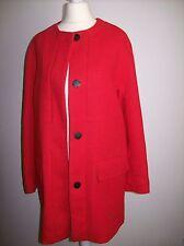 ZARA manteau rouge structuré veste longue blazer taille m
