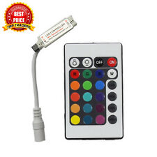 Mini 24 key IR Infrared Controller 5-24V DC for RGB Strip Light, 12V DC 6 Amp