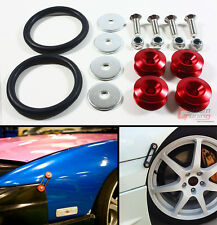 Red JDM Quick Release Fasteners For Car Bumpers Trunk Fender Hatch Lids Kit