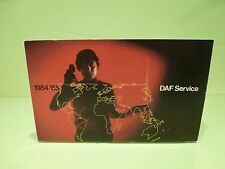 VINTAGE DW030301 DAF TRUCK  SERVICE BOOK 1984-1985 - GOOD CONDITION