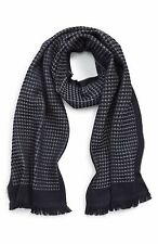 Authentic Canali Waffle Knit Wool Scarf $425