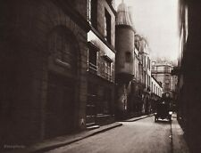 1890/1963 Vintage 11x14 CITYSCAPE Street Architecture France Art By EUGENE ATGET