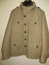 BURBERRY BRIT MEN'S I HOODED TRENCH MILITARY WINDBREAKER RAIN COAT JACKET XL