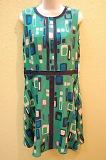 MISSONI Green SILK Print Sleeveless Dress Sz US 10 EU 46 New with Tags