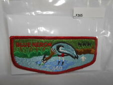 BLUE HERON LODGE 349  W/RED BDR PLASTIC BACK F265