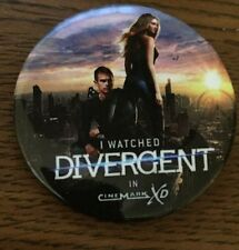 DIVERGENT PIN COLLECTIBLE Promo Hard to Get W Tris and Four  Wear to Allegiant!