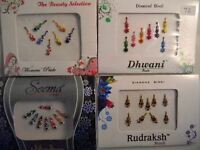 4 Pack Diamante Bindis-Stick On Bollywood Indian Body Art Tattoo Jewel Mixed 3