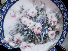ROSES Collector PLATE DISH W. L. GEORGE 1st Edition Ltd 1992 Lena Liu's Basket