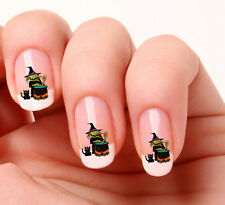 20 Nail Art Stickers Transfers Decals #401 - Witch & Cauldron Just peel & stick