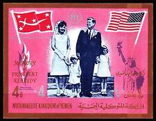 Yemen Kgr 1967 ** Bl.50 B Präsident president John F. Kennedy