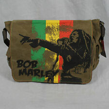 Authentic BOB MARLEY Rasta Messenger Shoulder Bag Backpack New
