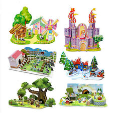 3D Puzzle DIY 3D Maqueta De Edificio Mini modelo Casa Para Niños Juguete Regalo