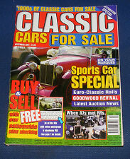 CLASSIC CARS FOR SALE DECEMBER 2001 - SPORTS CAR SPECIAL