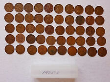 LOT OF 50 COIN ROLL ~ 1925-S LINCOLN PENNIES ~ AVERAGE CIRCULATED CONDITION