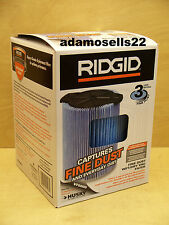 SHOP VAC FILTER VF5000, 3 LAYER, WET DRY, FITS 5-20 gal RIDGID & 6-9 gal HUSKY